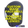 CUSTOM MADE FACESHELL WITH FOG-FREE MAGNETIC LENSES