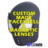 CUSTOM MADE FACESHELL WITH MAGNETIC LENSES