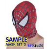 MASK SET D :  MASK WITH 3D WEBBING PUFFY PAINT