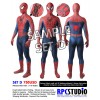 RED-BLUE (SET D) WITH 3D WEBBING SILVER PUFFYPAINT & EMBOSS FRONT SYMBOL